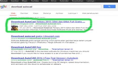 blog nomor 1 pada hasil pencarian google