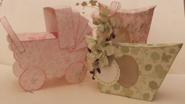 DCWV Pram and Cartons Clare Charvill House of Zandra Templates Create and Craft TV  Oct 14