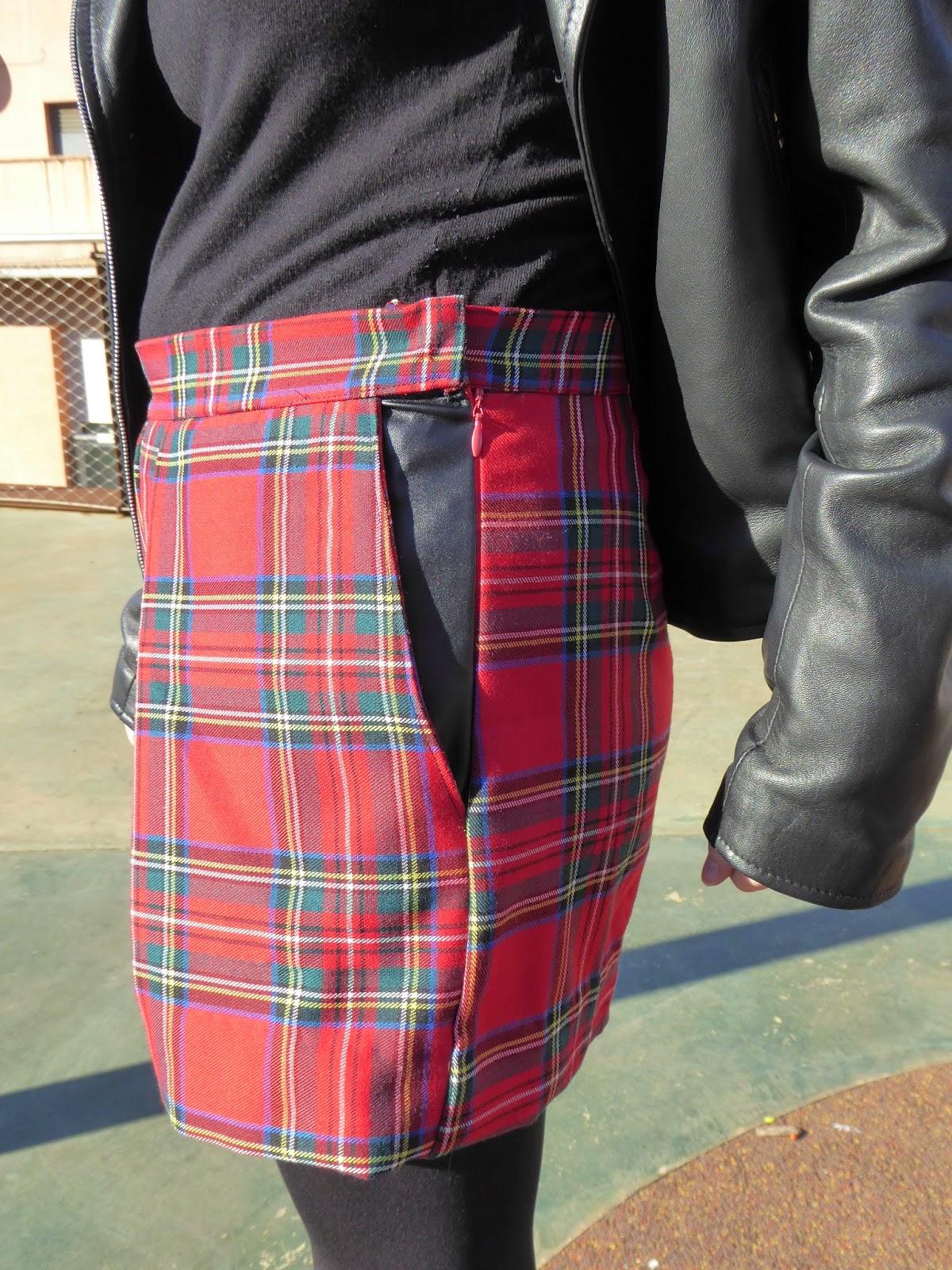 modistilla de pacotilla shorts burda cuadros polipiel