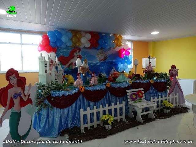 Pequena Sereia - decoração temática para festa de aniversário infantil de meninas.
