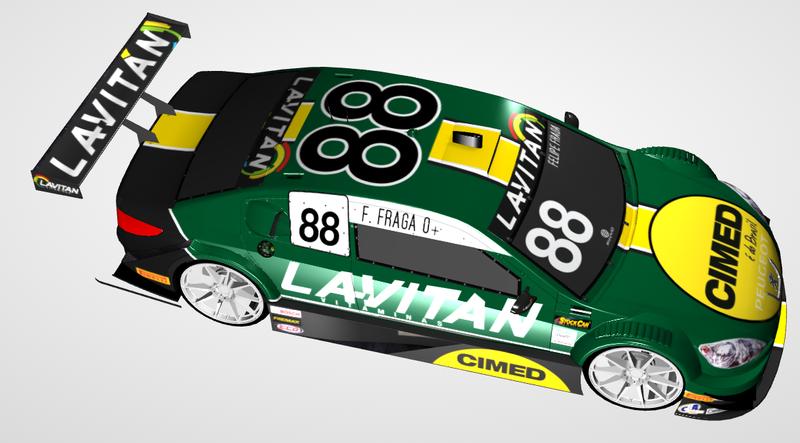 Modelo do carro que será usado por Fraga na temporada