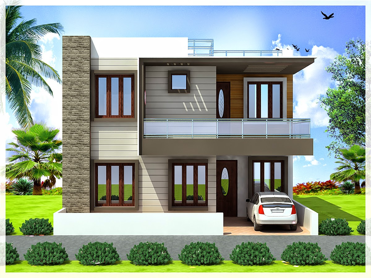 Ghar planner leading house plan and house design for Front look of small house