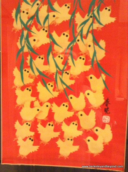 duck woodcut by local artist Ding Ji Tang at Golden Flower Hotel in Xi'an, China