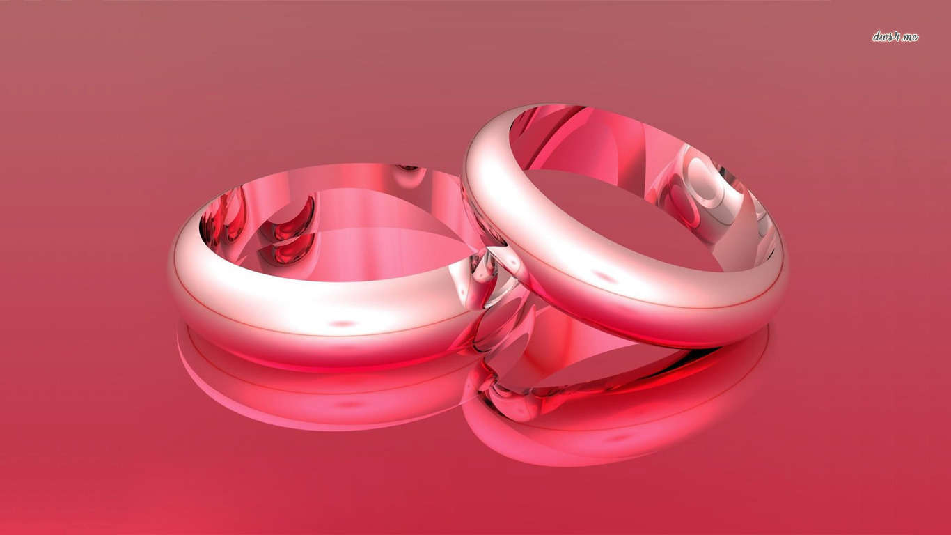 Wedding Ring Wallpaper: Wedding Ring Red Background Wallpaper