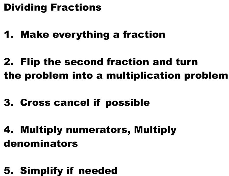 Miss Kahrimanis's Blog: Dividing Fractions