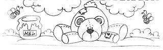 urso e pote de mel