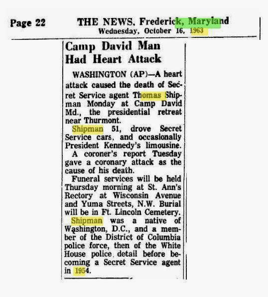 The death of an agent BEFORE 11/22/63