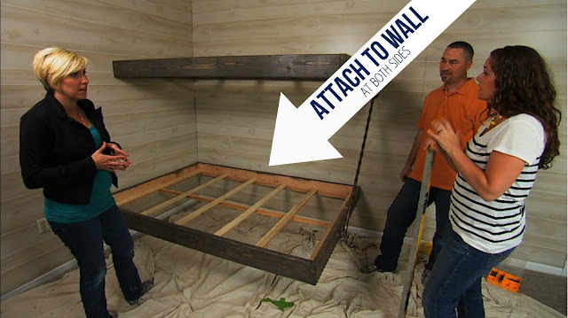 Floating bunk beds tutorial knock it off diy project east coast creative blog - Beds attached to the wall ...