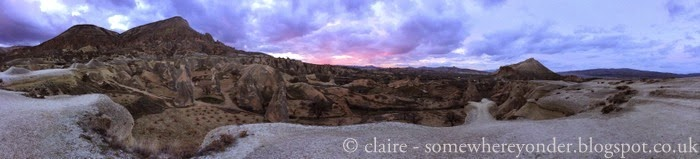 Zelve Valley, Cappadocia at sunset - after all the tourist buses had departed and we had this amazing view all to ourselves!