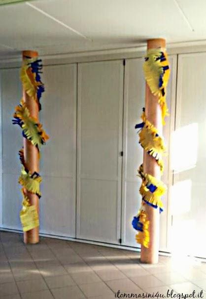 Decorazioni con la carta crespa fringe garland - Abbellito con decorazioni ...