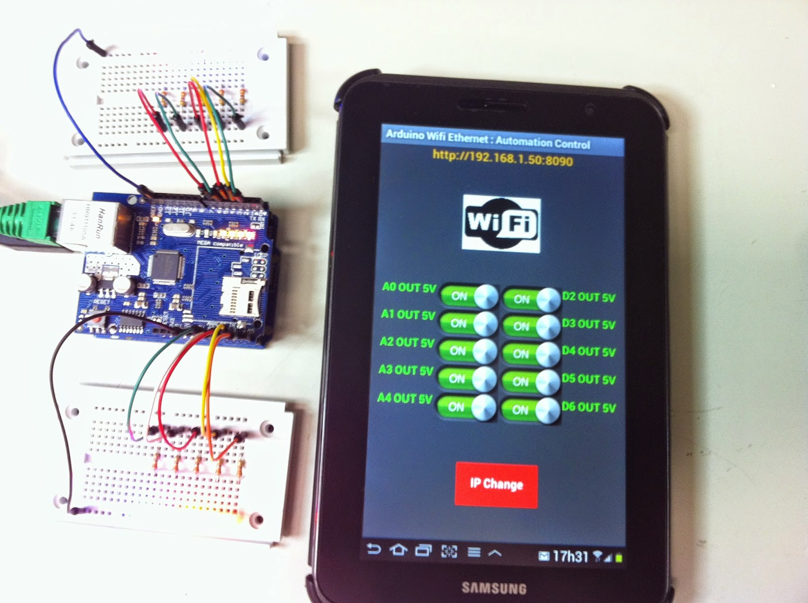 Android app arduino wifi
