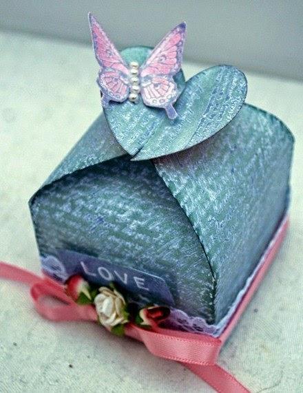 Cajitas de regalo con moldes diy - Manualidades regalo boda ...