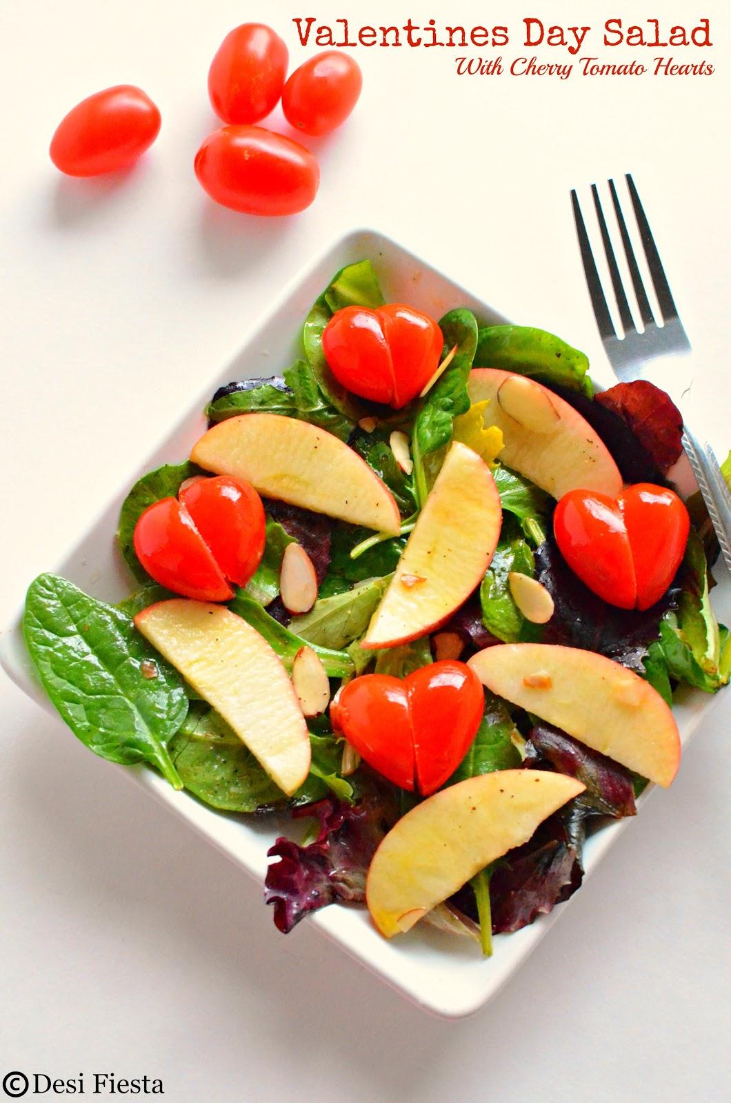 Heart shaped Salads Recipe