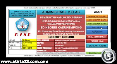 Aplikasi Administrasi Kelas Dan  Penilaian KTSP SD