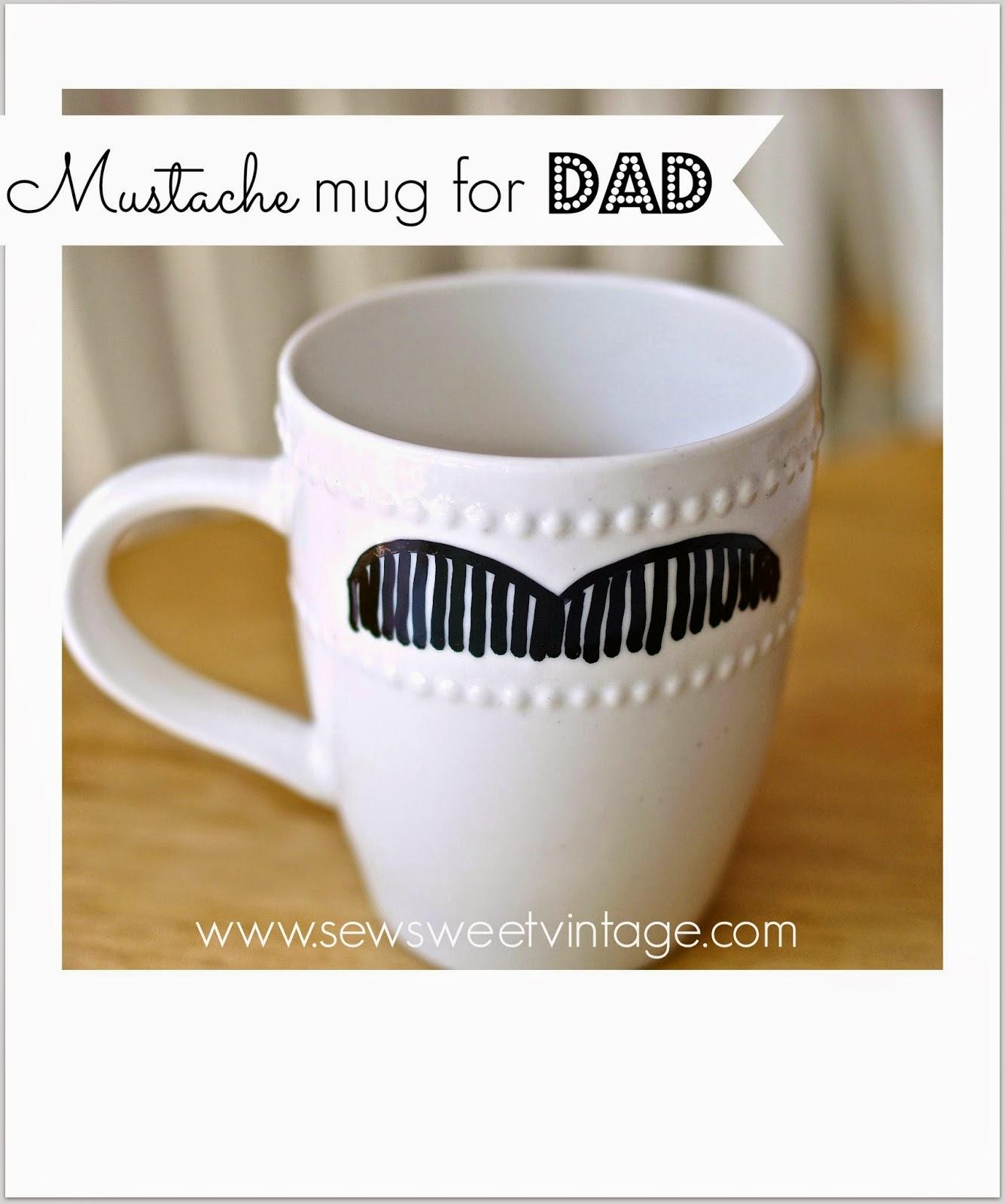 how to make a mustache sharpie mug