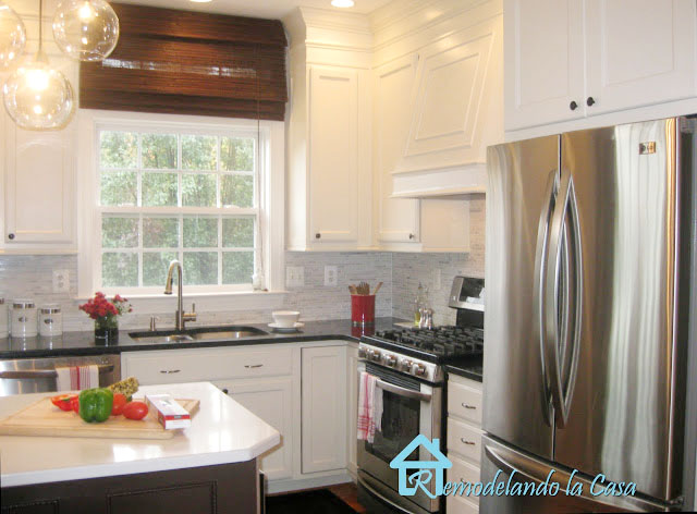 kitchen makeover with backsplash