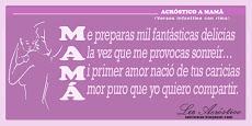 Acróstico a Mamá (versos con rima)