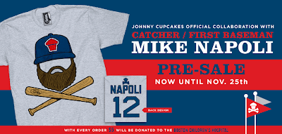 "Johnny Cupcakes x Mike Napoli Baseball Crossbones T-Shirt ""Napoli Crossbones"""