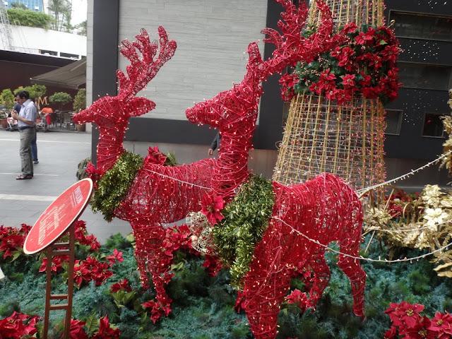 Christmas Deers made of lights wiring display outside Pavilion Mall, Kuala Lumpur, MALAYSIA