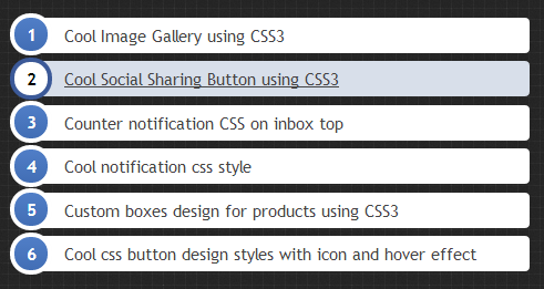 Ordered List Style Using CSS3