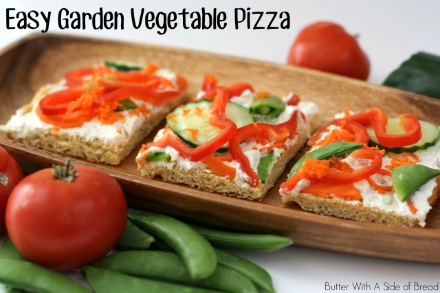 EASY GARDEN VEGETABLE PIZZA #CreateWithCrisp - Butter With a Side of ...