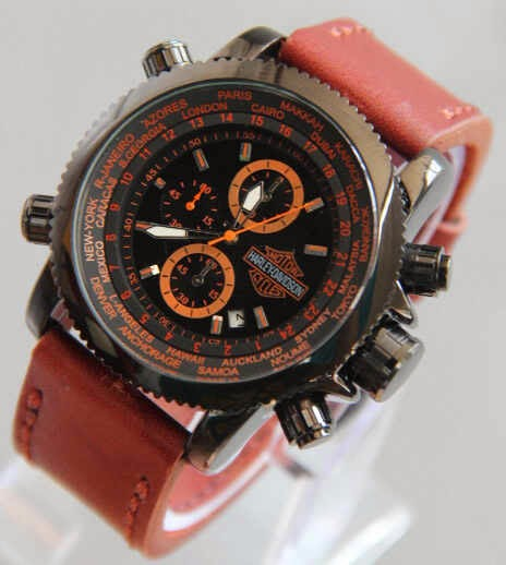 Harley Davidson 002 coklat list orange