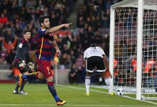 Barcelona 7-1 Valencia, Suarez, Copa Del Rey