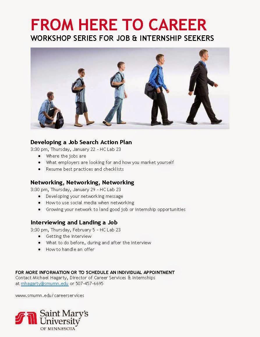 career services internships upcoming workshops spring 2015