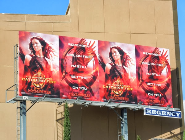 The Hunger Games Catching Fire movie billboard