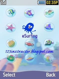 Samsung SCH-S569 Sea Theme Download Menu