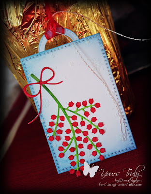 Diana Nguyen, Poppystamps, Winterberry, tag