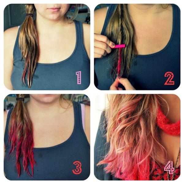 Розовая краска для волос в домашних условиях 579