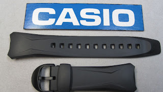 Casio watch band black rubber WVA-104H WVA-104HA WVA-104HY