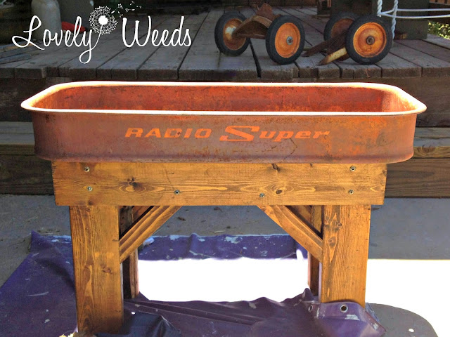 Repurposed Wagon Table