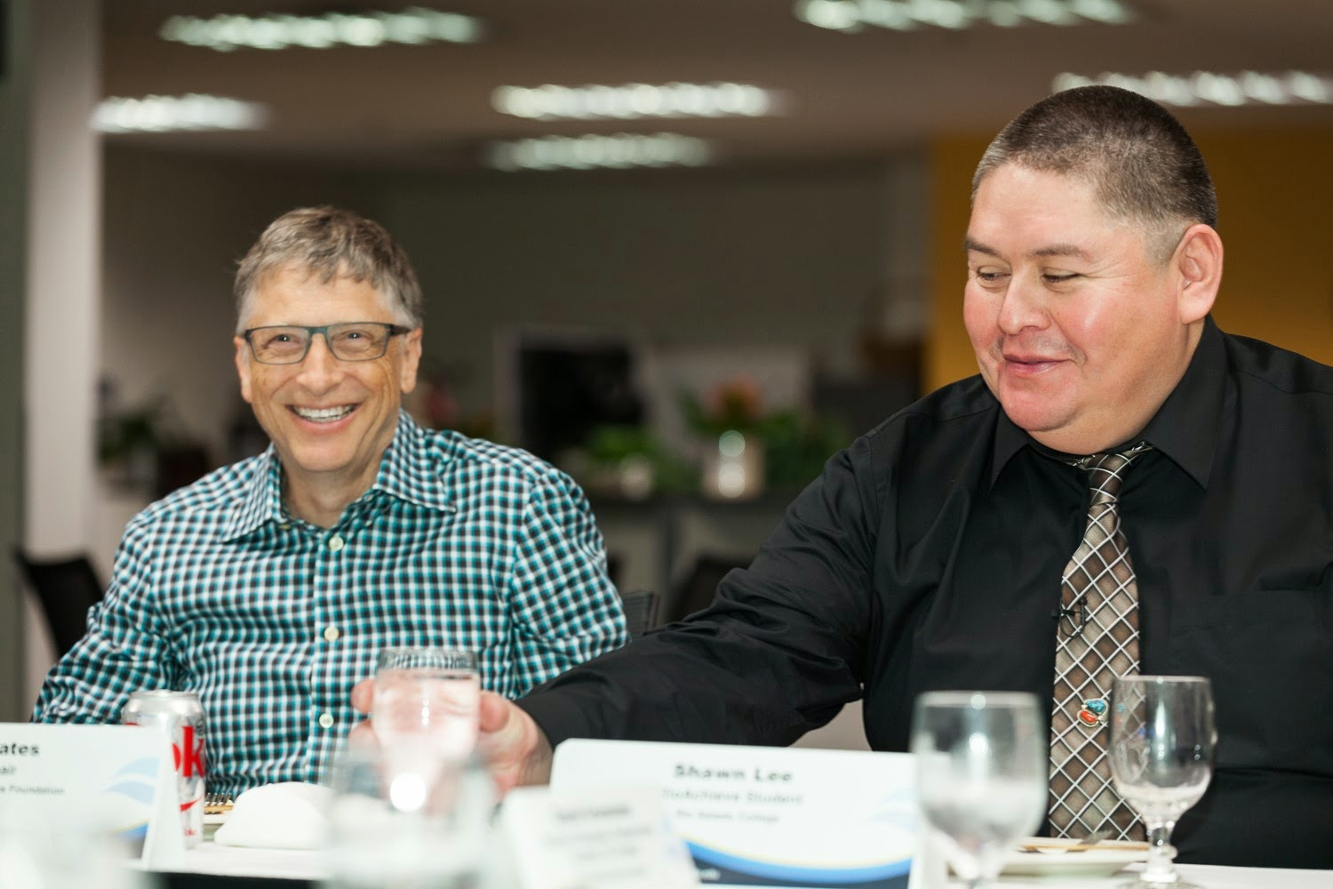 Photo of Bill Gates with Shawn Lee