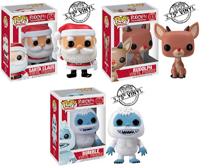 Rudolph the Red-Nosed Reindeer Pop! Holidays Series 1 - Santa Claus, Rudolph & Bumble Vinyl Figures