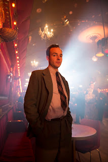 Pathologist Collins investigates at a dance hall in ITV's Murder on the Home Front