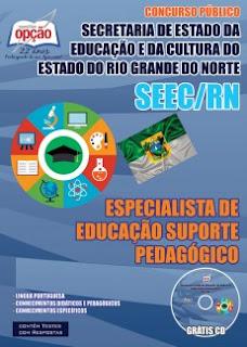 Apostila concurso SEEC-RN Professor e Suporte Pedagógico.