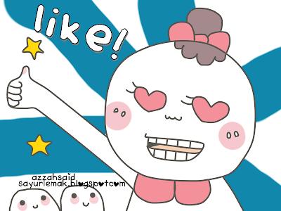 LIKE,FB page,doodle,comel,azzahsaid