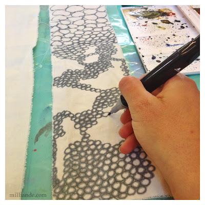 Painted Fabric - UnRuly Cloth & Canvas Milliande CAPI Art Portfolio Experimentations