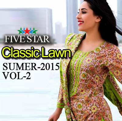 Five Star Classic Lawn 2015 Vol-2 Catalog