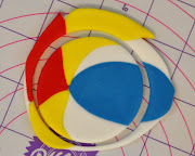 Using your circle cutter, cut out the beach ball shape again.