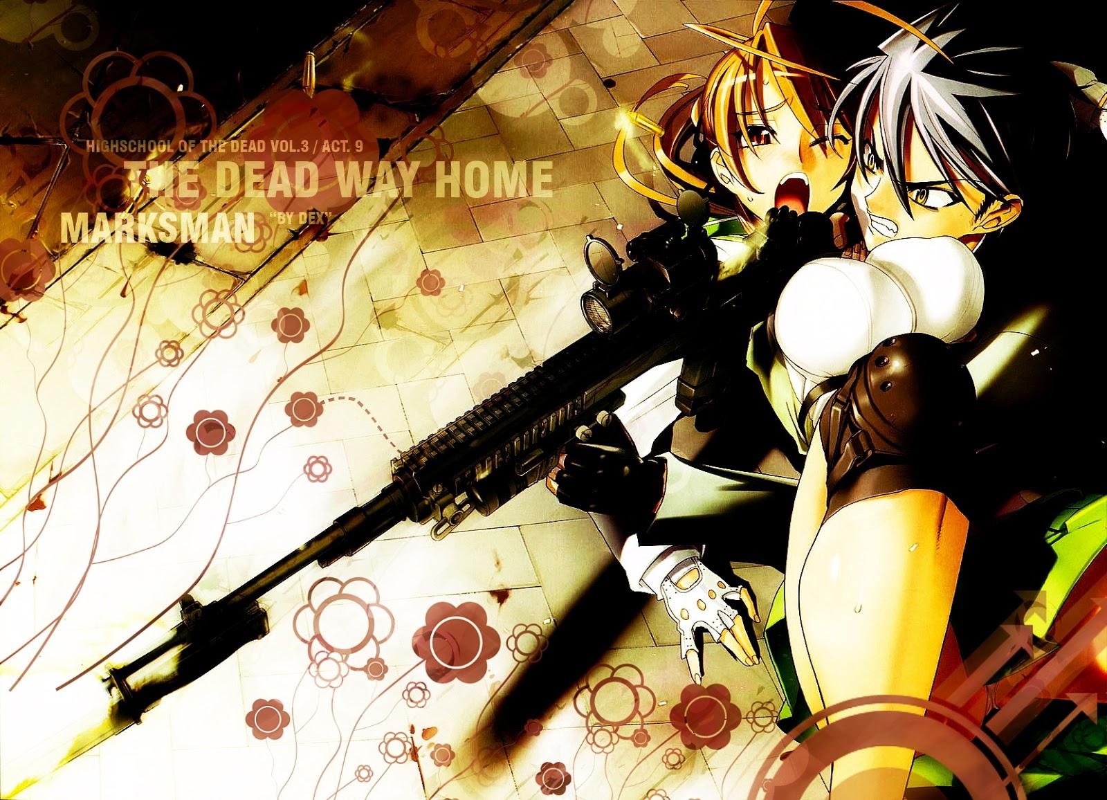 of the Dead HOTD Takashi Komuro Rei Miyamoto Anime Gun HD Wallpaper ...