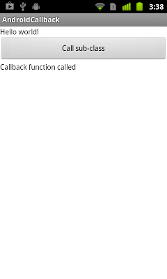 Implement callback method