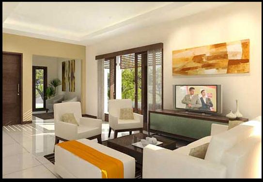 denah rumah minimalis desain ruang keluarga