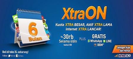 paket internet xl, paket internet xtra on