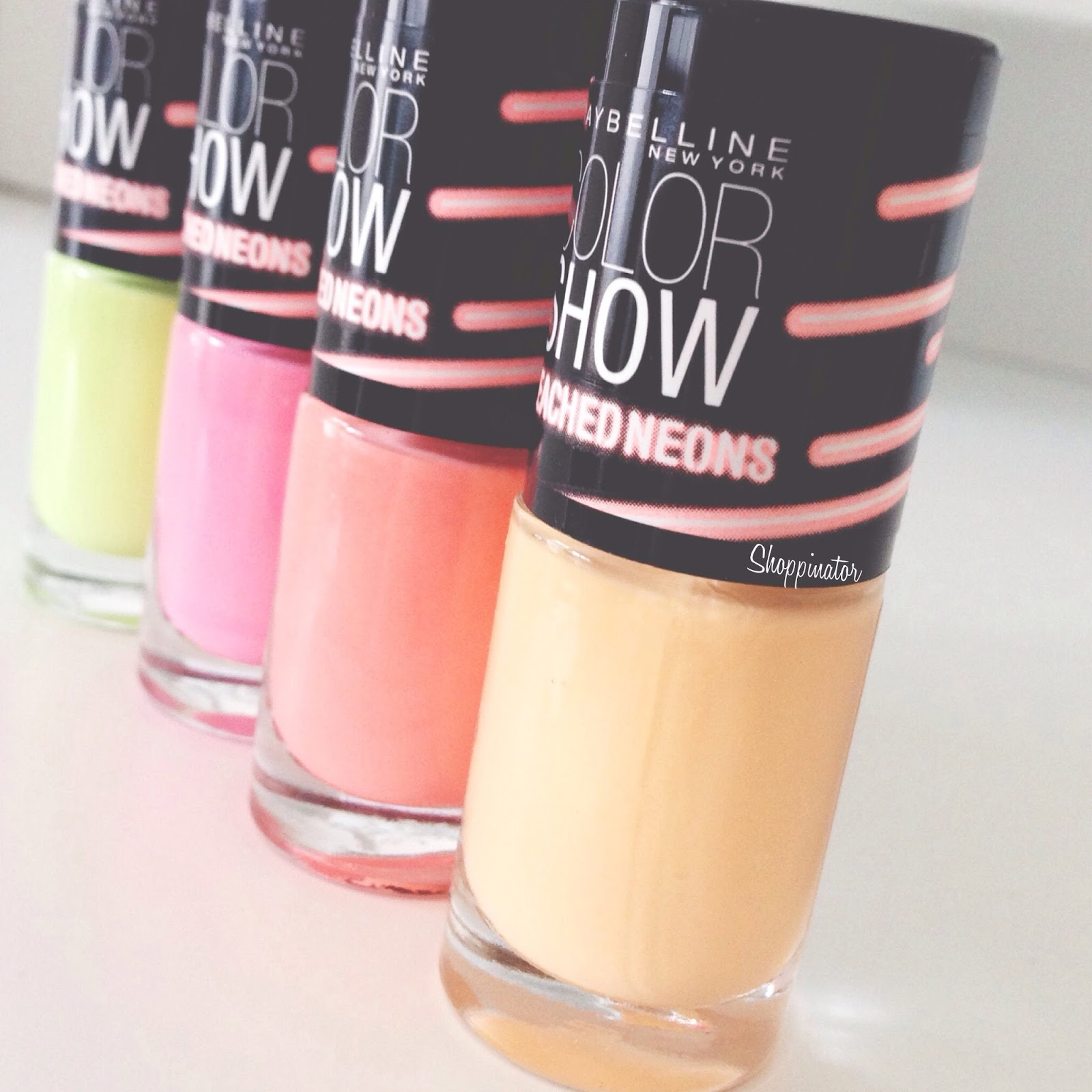 Maybelline 'Bleached Neons' | Swatches