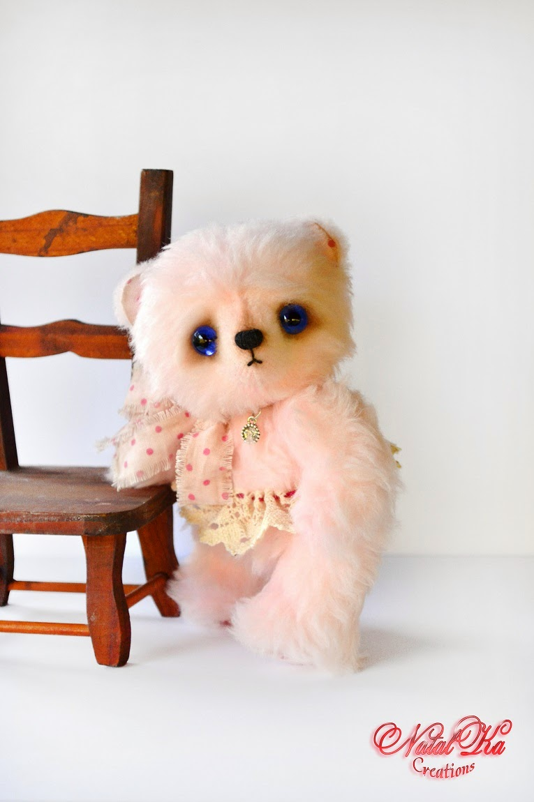 Авторский мишка-тедди. Artist teddy bear handmade by NatalKa Creations