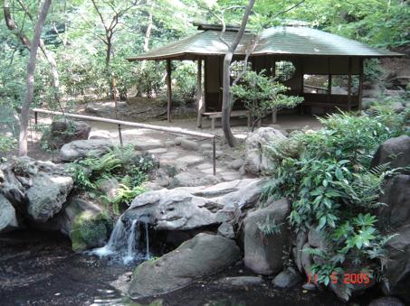 L'intérieur-extérieur nippon idéalisé au Rikugi kôen (Tokyo)