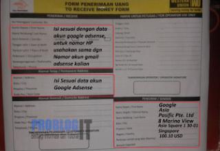 Cara Mengambil Uang dari Google Adsense di Kantor Pos
